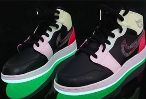 "AJ1 Mid""Glow in the dark""实物图曝光 AJ1 Mid""Glow in the dark""什么时候发售"