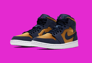 Air Jordan 1 Mid Satin Gold发售信息 AJ1 mid Satin Gold实物细节